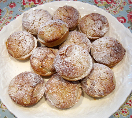 Frangipane Mince Pies dusted with icing sugar Advent Calendar Day Eight