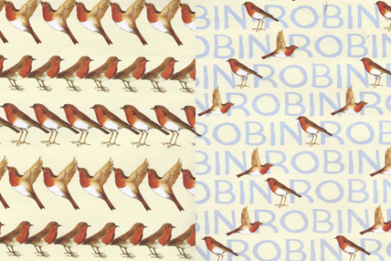 Robin Wrapping Paper for Advent Calendar - Day Eleven