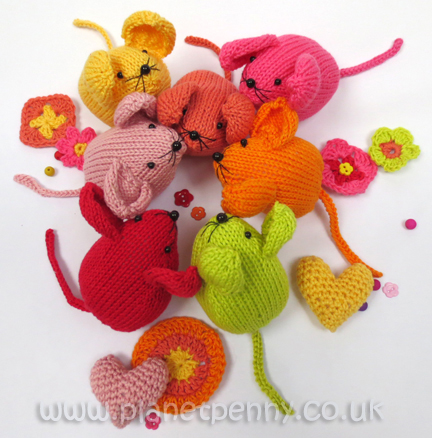 Sunshine & Shadows Knitted Mice
