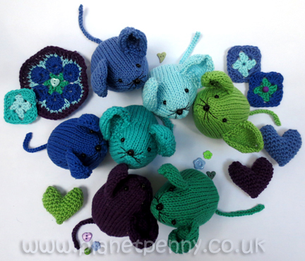 Sunshine and Shadows Knitted Mice