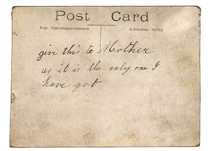 Postcard for Mother c.1914
