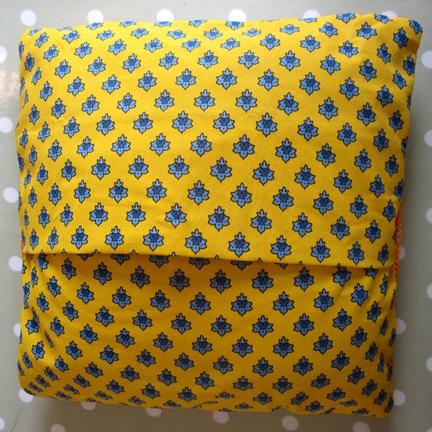 Provençal print fabric back
