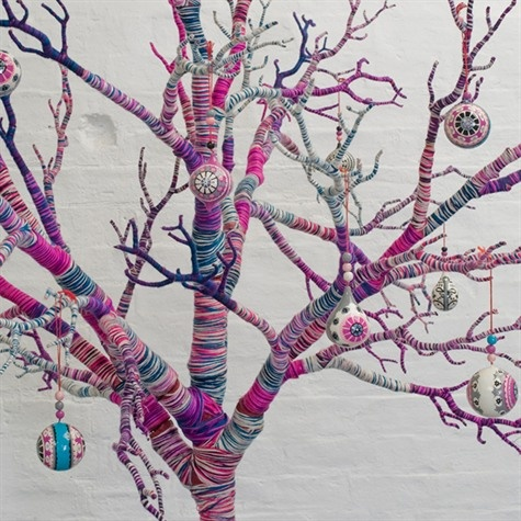 yarn wrapped tree
