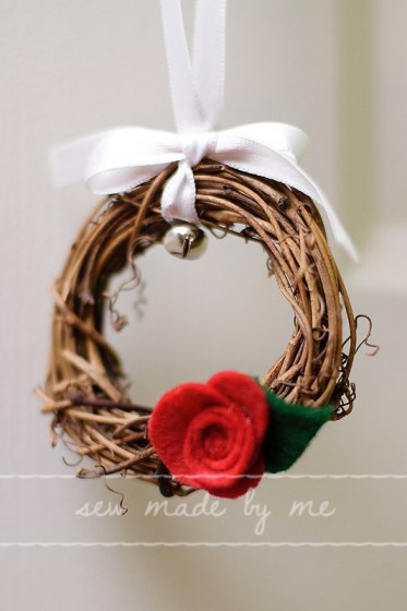 Twig Ring & rose Christmas Countdown