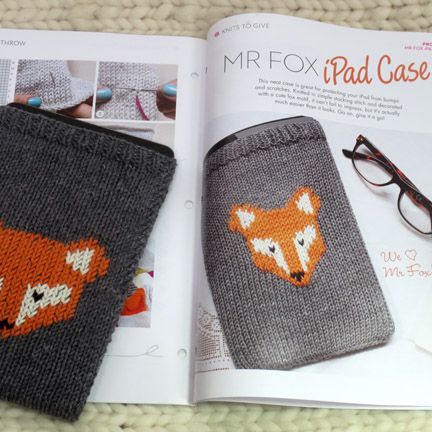 Mr Fox iPad Casr from Simple Stylish Knitting Magazine