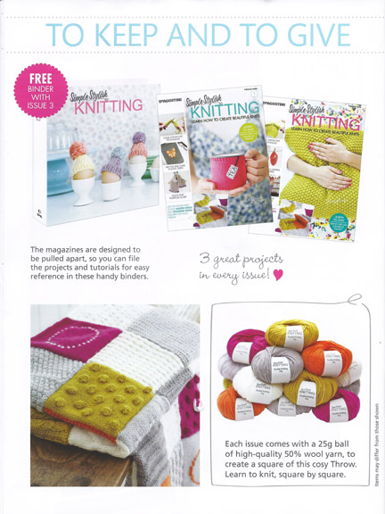 Simple Stylish Knitting Magazine free yarn