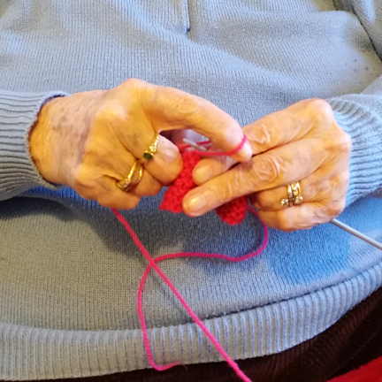 Knitting Nan for Happy Friday