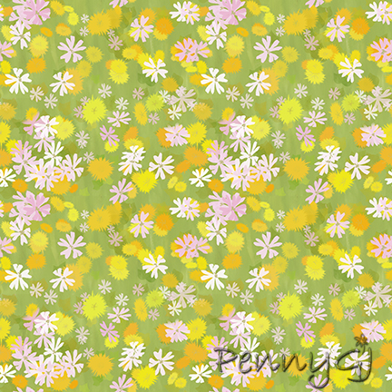 Pink and Gold pattern by Penny GJ
