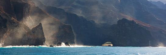 Napali coastline - Photo © Carl Amoth