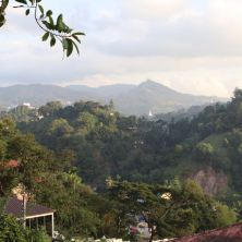 View from Elephant Stables towards Kandy and the Big White... you guess it... BUDDHA STATUE