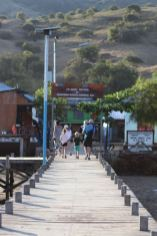 The jetty into Kampung Komodo