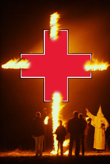 Burning Red Cross