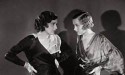 Two young women arguing