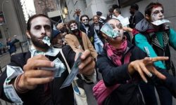 Wall-Street-Protest Zombies