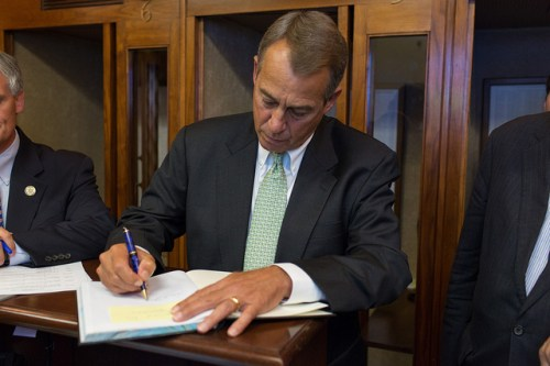 boehner writing