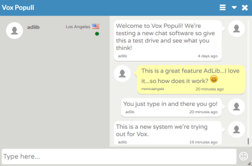 Vox Chat Box