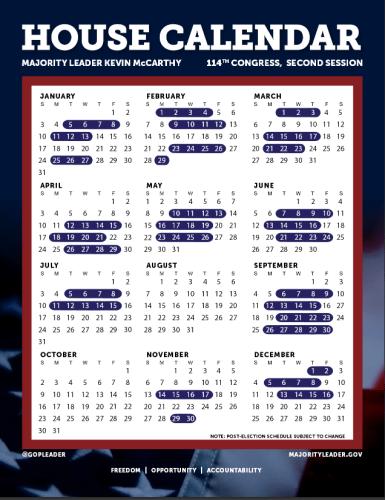 House Calendar 2016