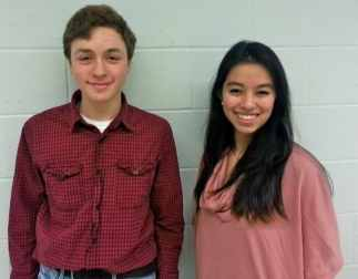 PHS students Andrew Goldstein and Mollie Chen are organizing the Feb. 22 Hurricane Sandy fundraiser.