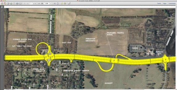Route 1 Penns Neck Intermediate Plan
