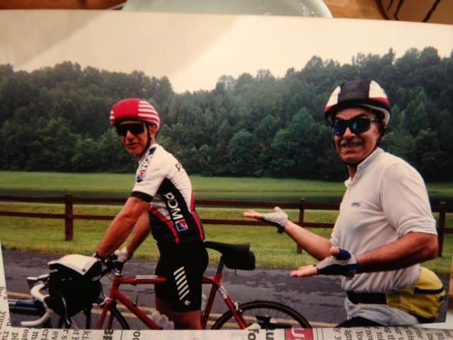 Ken Sharples (l) and Jim Golis on the 1992 ride after Sharples aot them lost. Photo: MArk Smith.