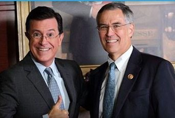 U.S. Rep. Rush Holt is slated to appear on the Colbert Report tonight.