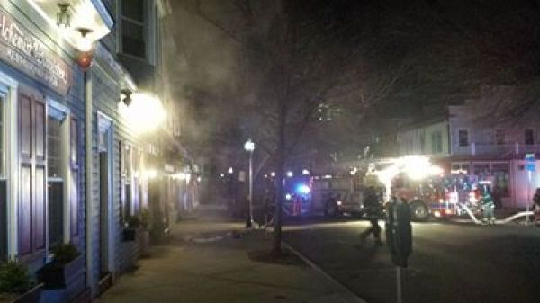 A fire broke out at the House of Cupcakes around 1 a.m. Photo: Jeffrey Jimenez.