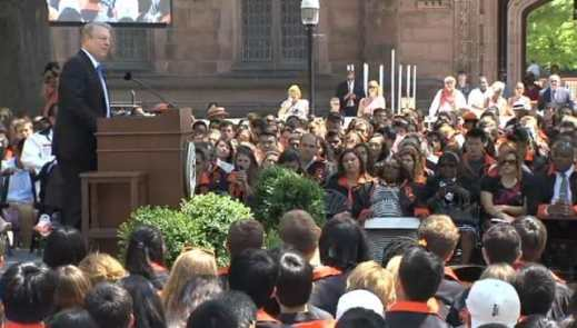 Al Gore calls on Princeton University graduates to help change the conversation about climate change.