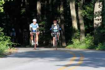 The cyclists enjoyed country roads and moderate temperatures on the Ride for Runaways Thursday. Photo: Jeanne Imbrigiotta.