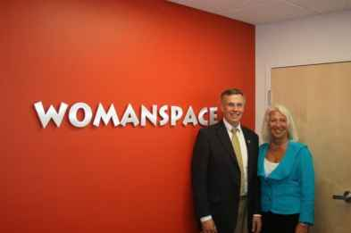 Rush Holt and Patricia Hart at Womanspace.