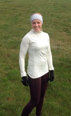 Nicole Antounof Hopewell  after her 8-mile taper run this week.