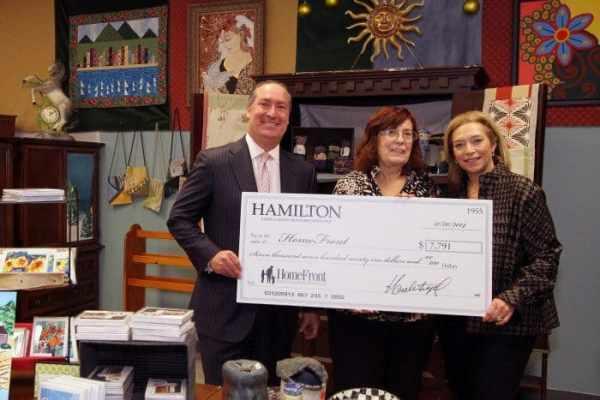 Hank B. Siegel, Connie Mercer and Lisette Siegel (r) at HomeFront's Trenton facility.