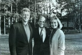 Jones with the Clintons.