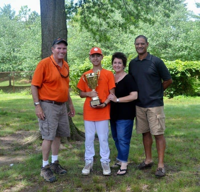 ​(l-r) Princeton Special Sports Trustee and Jack's dad John Rutledge​, Eric Llanos, Nancy Llanos, and Rich Llanos.​