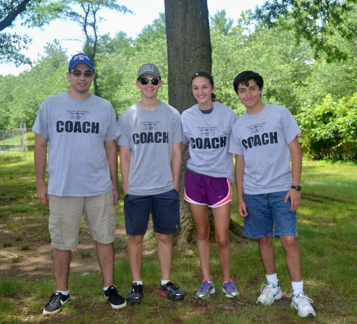 (l-r) Current Junior Coaches Matt Calderone and Jack Goodman, newly appointed Junior Coach Kennedy Corrado, and current Junior Coach Ricky Stella.