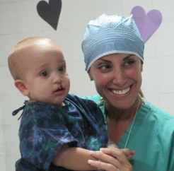 Majeski on an Operation Smile mission in the Dominican Republic.