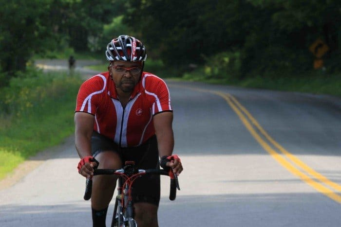 ardel Locke of West Windsor and 172 other cyclists pedaled 70 miles from Corning, New York to Wellsboro, Pa. on day three of the Anchor House Ride for Runaways.