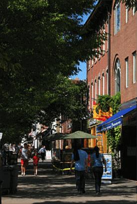Nassau street sidewalk
