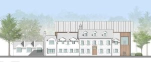 A rendering of the new catering venue designed by J. Robert Hillier.