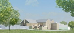 Another rendering of the new catering venue designed by J. Robert Hillier.