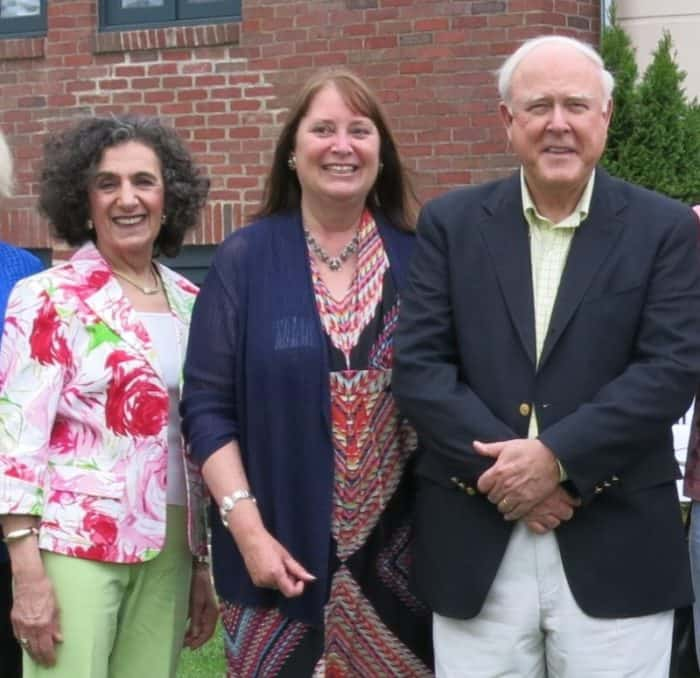 New D&R Greenway Board Chair Phyllis Marchand with President & CEO Linda Mead and Brian Breuel. File photo.