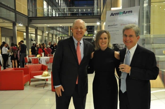 (l-r) Billy Shore of Share Our Strength, Arm In Arm Executive Director Carolyn Biondi, and Board Chair Gary Patteson.