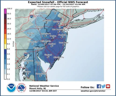 About four inches of snow expected to fall in the Princeton area on Saturday