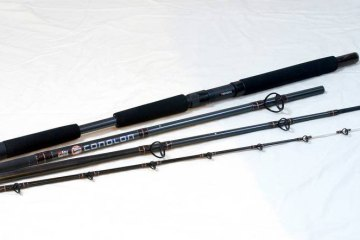 the four sections of the Abu Conolon Travel Combo rod