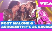 Post Malone & Aerosmith ft. 21 Savage Perform 'Rockstar' / 'Dream On' & More! | 2018 VMAs