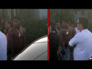 LA Goons Points Gun At NBA YoungBoy during his video shoot in WATTS California
