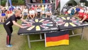 Dope: 2 German Guys Play An Intense Game Of Head Pong!