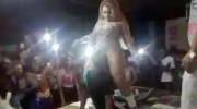 Chick Pulls Her Man Off Stage After Catching Him With His Face Between A Girl's Crotch!