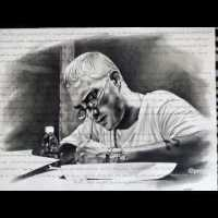 WOW: Fan Creates EMINEM Stan Portrait From Scratch Including Lyrics