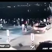 Sheesh: Driver Completely Misses Ships Access Ramp & Hits A Man Before Plunging Into The Water!
