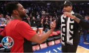 Dwyane Wade embraces Carmelo Anthony in final game at MSG | NBA Highlights